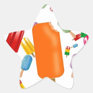 Big Popsicle Chaos by Ana Lopez Star Sticker