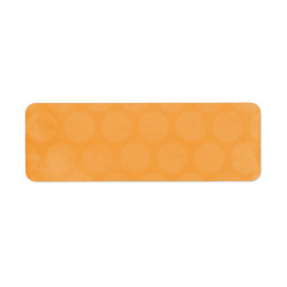 BIG POPSICLE ORANGE SUMMER POLKADOTS CIRCLES POLKA LABEL