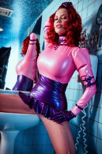 Big Poster Pink Blue Latex Bianca Beauchamp