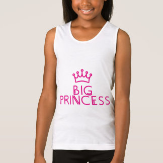 BIG PRINCESS with crown - matching outfit Tank Top
