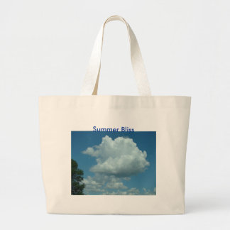 Big Puffy Cloud, Summer Bliss Large Tote Bag