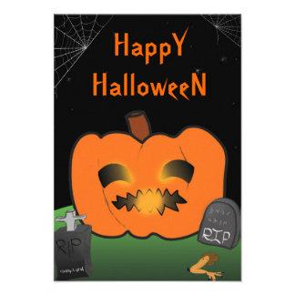 Big Pumpkin Halloween Invite