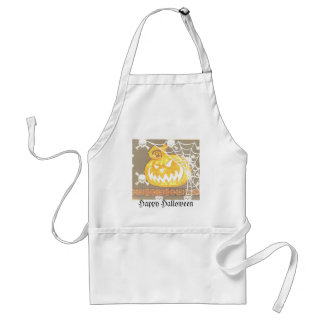 Big Pumpkin Halloween Items Adult Apron