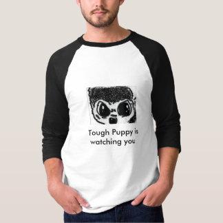 big puppy dog eyes  shirt with  a qoute