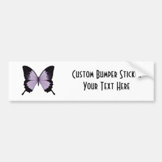 Big Purple & Black Butterfly Car Bumper Sticker