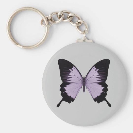 Big Purple & Black Butterfly Keychain