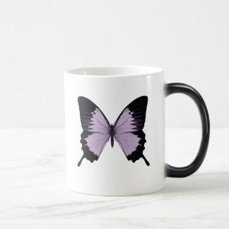 Big Purple & Black Butterfly Magic Mug