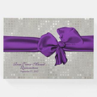 Big Purple Bow Quinceañera Guest Book