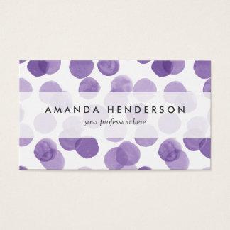 Big Purple Dots Pattern Business Card