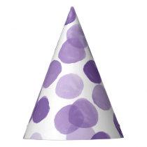 Big Purple Dots Pattern Party Hat