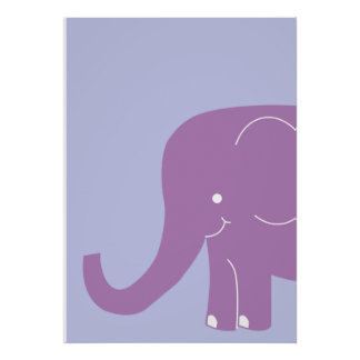 Big Purple Elephant Wall Art