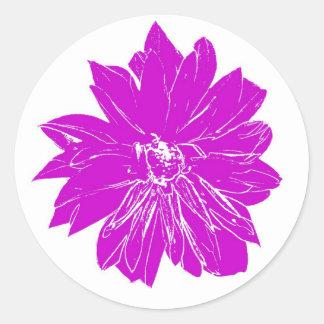 Big purple flower stickers
