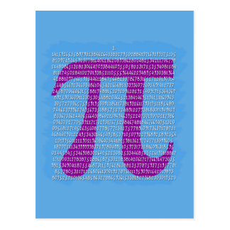 Big Purple Pi Carried to Multiple Digits Postcard
