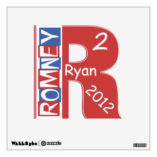 Big R 2 (squared) Red White Blue Romney Ryan Wall Sticker