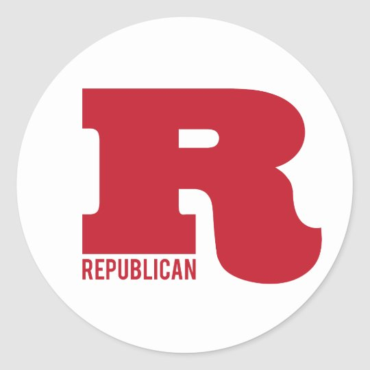 Big R - Republican Classic Round Sticker