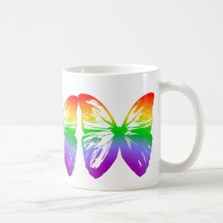 Big Rainbow Butterfly Coffee Mug