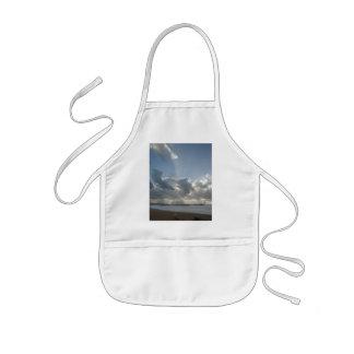 Big rays through clouds kids' apron