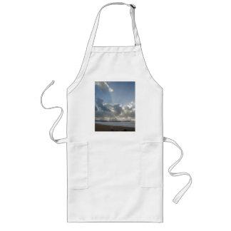 Big rays through clouds long apron
