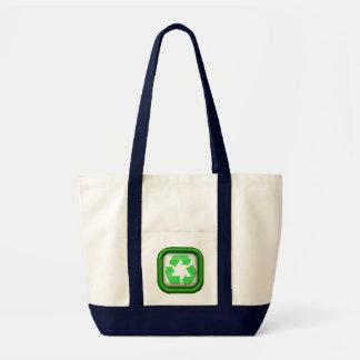 Big Recycle Symbol Grocery Tote Bag