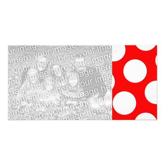Big Red and White Polka Dots Card