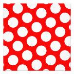 Big Red and White Polka Dots Photo Print