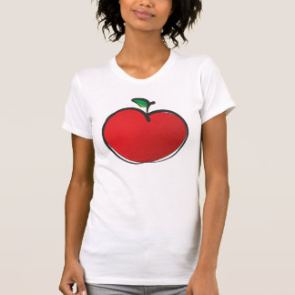 Big Red Apple Drawing T-Shirt