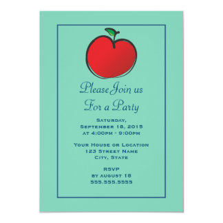 Big Red Apple Generic Party Card