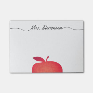 Big Red Apple Grade School Teacher's Post-it Notes