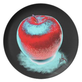 Big Red apple Melamine Plate
