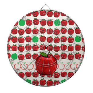 Big Red Apple on Apple Design with Red and Green A Dartboards
