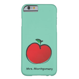 Big Red Apple Personalized Barely There iPhone 6 Case