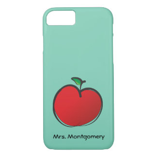Big Red Apple Personalized iPhone 7 Case