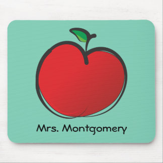 Big Red Apple Personalized Mouse Pad