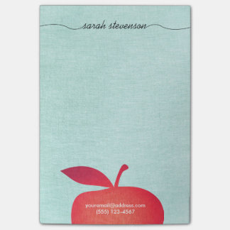 Big Red Apple School Teacher Education Post-it® Notes