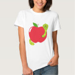 Big ,Red Apple With Worm Apparel T-Shirt