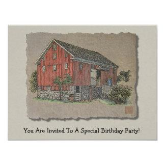 Big Red Bank Barn Card
