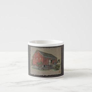 Big Red Bank Barn Espresso Cup