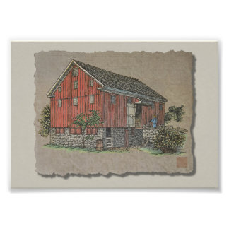 Big Red Bank Barn Photo Art