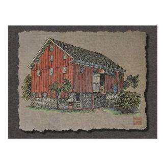 Big Red Bank Barn Postcard