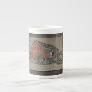 Big Red Bank Barn Porcelain Mugs