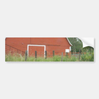 Big Red Barn Car Bumper Sticker