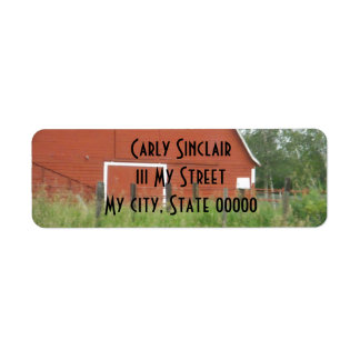 Big Red Barn Return Address Labels
