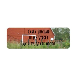 Big Red Barn Label