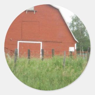 Big Red Barn Classic Round Sticker