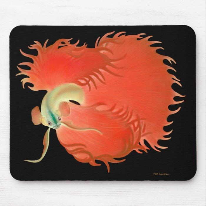 Big Red Betta Fish Mousepad