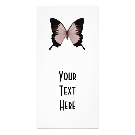 Big Red & Black Butterfly Customized Photo Card