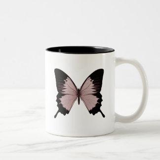 Big Red & Black Butterfly Two-Tone Coffee Mug