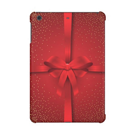 Big Red Bow Christmas Holidays Gift iPad Mini Case