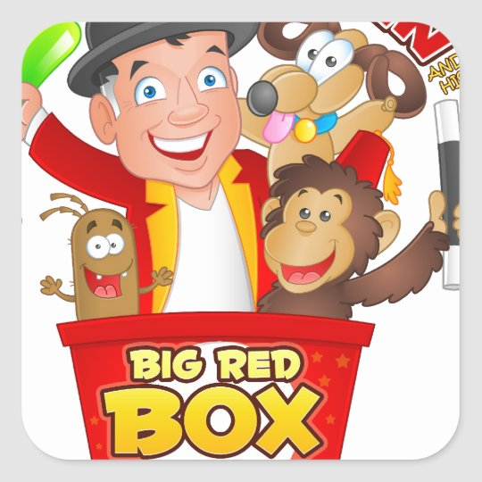 Big Red box of magic v3.jpg Square Sticker