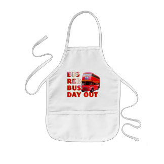 Big Red Bus Day Out Kids' Apron